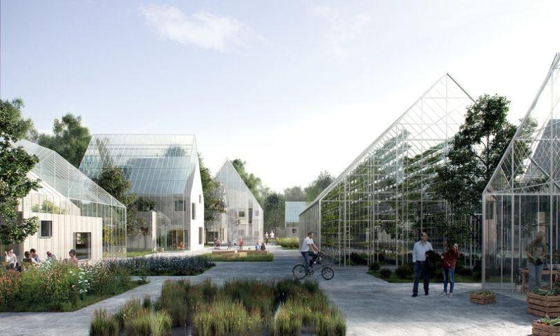 L'écoquartier d'Almere produira plus de nourriture que les fermes traditionnelles de taille identique et en utilisant moins de ressources. (© Effekt)